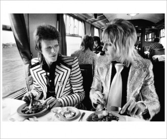 Bowie Ronson Lunch On TrainTo Aberdeen UK 1973