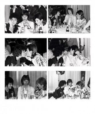 Lou Reed, Mick Jagger, Bowie Multiple Cafe Royale, London 1973