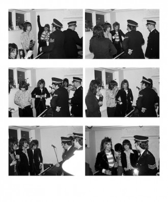 Mick Jagger, Rod Stewart, JeffBeck, RonnieWood Multiple London 1975