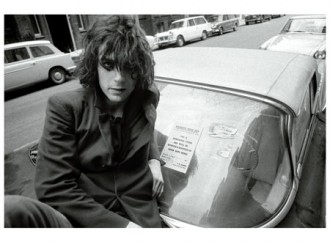 Syd Barrett with tow sign