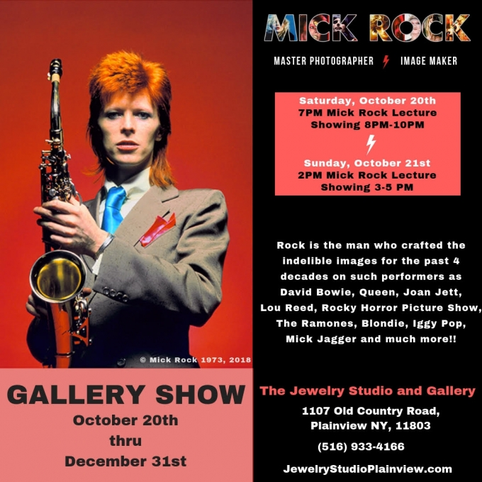 THE MICK ROCK ICONIC GALLERY SHOW TO EXHIBIT AT THE JEWELRY STUDIO IN PLAINVIEW, NY OCTOBER 20TH – DECEMBER 31ST