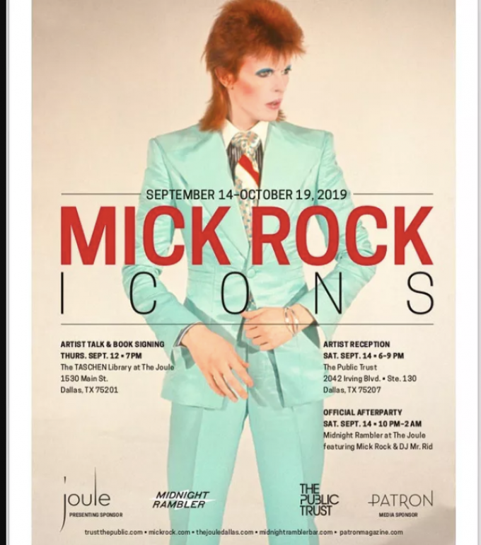 Lonestar 925: Legendary Photographer Mick Rock In Dallas This Weekend For ICONS Exhibit